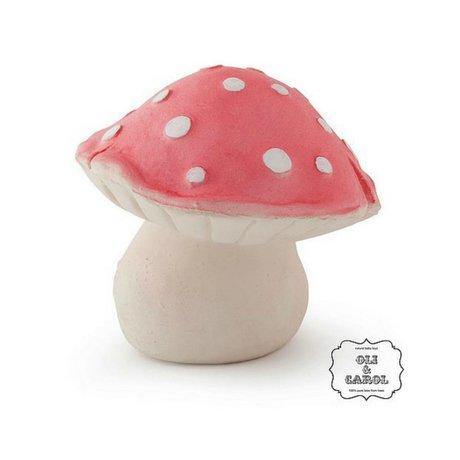 Oli & Carol Bath Toy Forest mushroom red natural rubber10x8cm