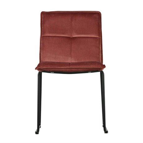 WOOOD Dining chair Evan old pink velvet metal set of 2 47,5x56x85,5cm