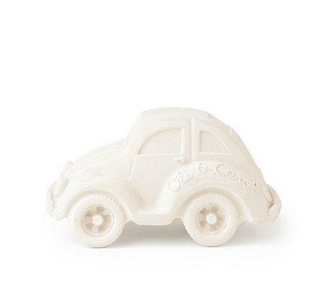 Oli & Carol Bad Spielzeugauto weißer Naturkautschuk 6x10cm