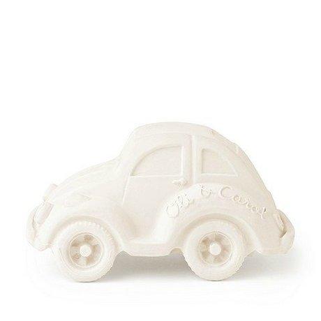 Oli & Carol Bath toy car white natural rubber 6x10cm