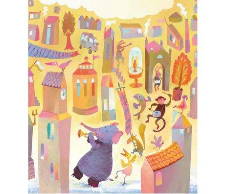 KEK Amsterdam Tapete Parade multicolor Vlies Papier 243,5 x 280 (5 Blatt)