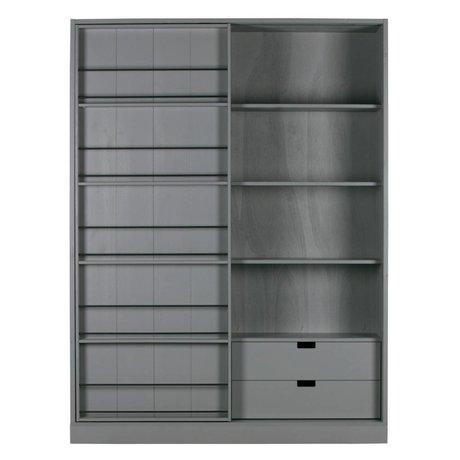 WOOOD Sliding door cabinet Swing clay green pine 150x46,5x200cm