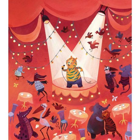 KEK Amsterdam Tapete Karaoke Tiger multicolor Vliespapier 292.2 x 280 (6 Blatt)