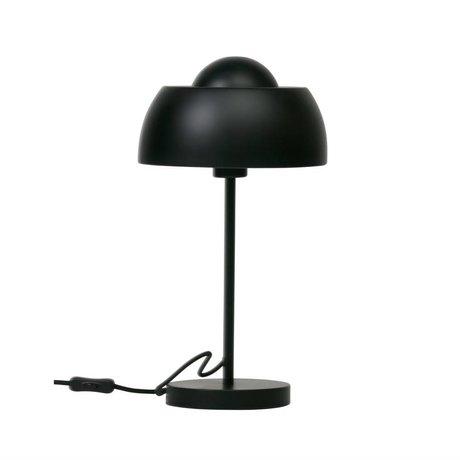 WOOOD Tafellamp Yvet zwart metaal Ø24x45cm