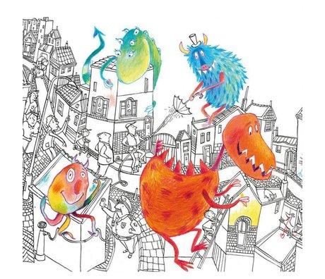KEK Amsterdam Behang Monsters multicolor vliespapier 292.2 x 280 (6 sheets)