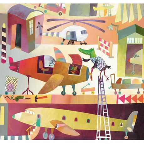 KEK Amsterdam Wallpaper Airport multicolor Vliespapier 292.2 x 280 (6 Blatt)