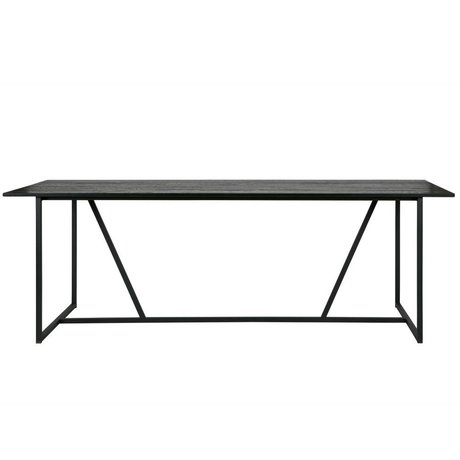 WOOOD Dining table Silas black brushed oak 220x90x75cm