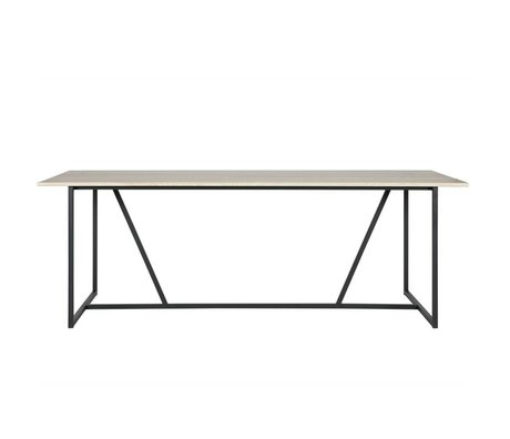 WOOOD Dining table Silas natural brown brushed oak 220x90x75cm