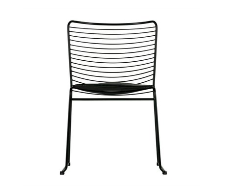 LEF collections Dining chair Muck black metal 51,5x54x78cm