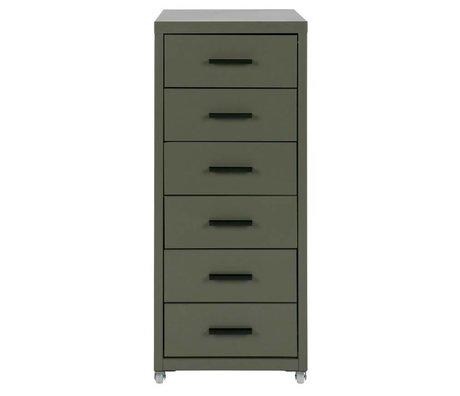 LEF collections Ladekast Soof groen metaal 28x41x69cm