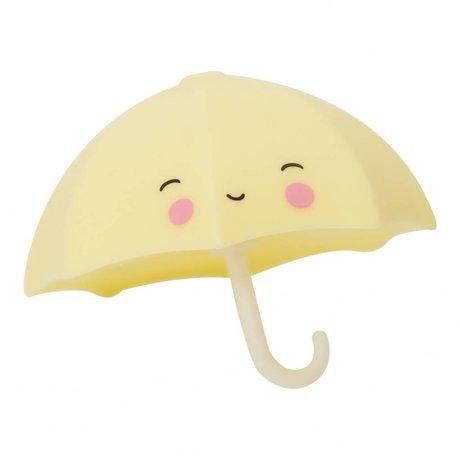 A Little Lovely Company Badspeeltje Paraplu geel PVC 9x7x9cm