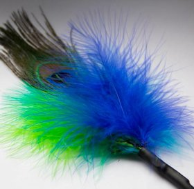 Flying Frenzy Peacock feather (peacock fluffer)