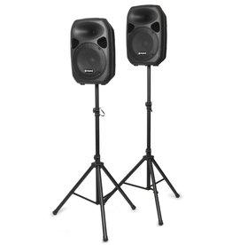 """Skytec SPS122 Actieve Speakerset 12"""" incl. Stands en Kabel"""