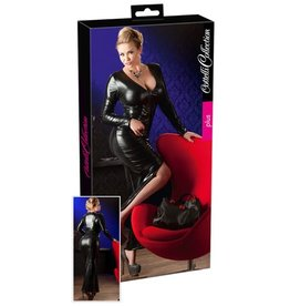 Cottelli Collection Wetlook Jurk Plus Size - Zwart