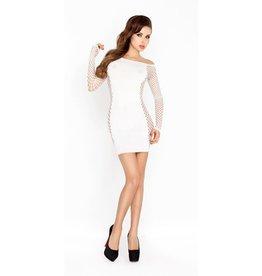 Passion Wit mini jurkje met netstof mouwen