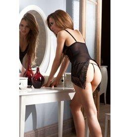 Abierta Fina Transparant lingerie jurkje en string