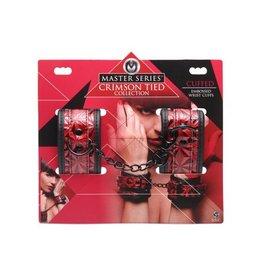 Crimson Tied Rood met zwarte pols boeien