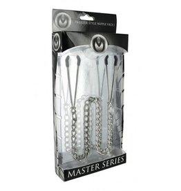 Master Series Tepelklemmen met ketting - Staal
