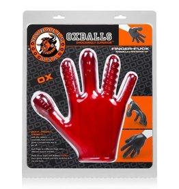 Oxballs Finger Fuck Handschoen - Rood