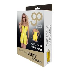 Guilty Pleasure GP Datex Mini Jurkje Met Rits - Geel