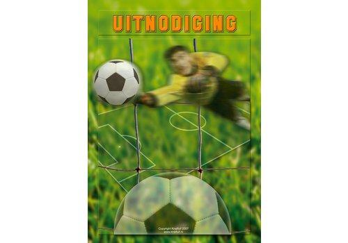 Uitnodigingen Voetbal (8 st)