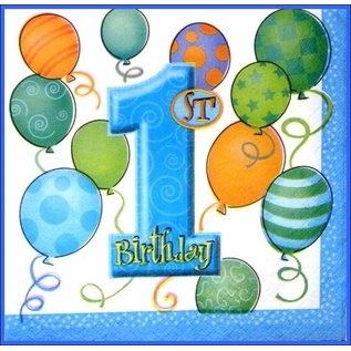 Servetten Blue Balloons