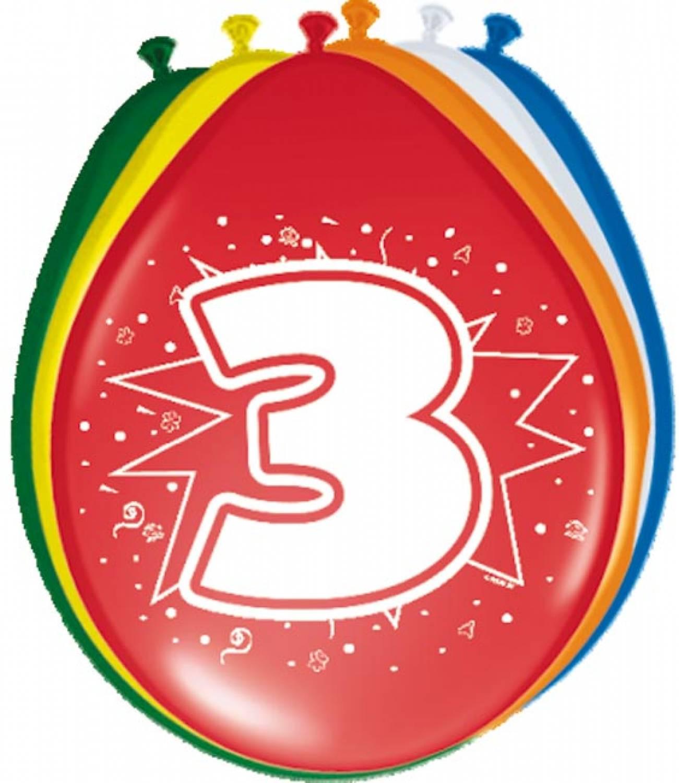 Ballonnen 3 jaar - Knalfuif Kinderfeestjes