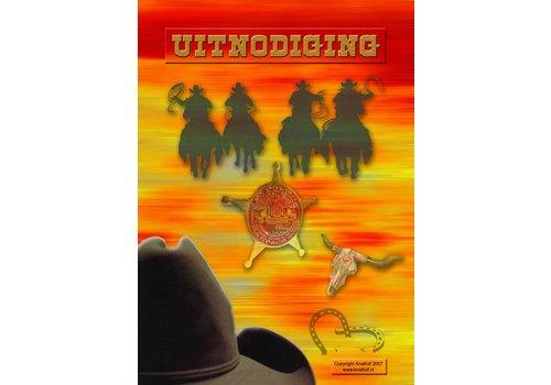 Uitnodigingen Cowboy (8st)