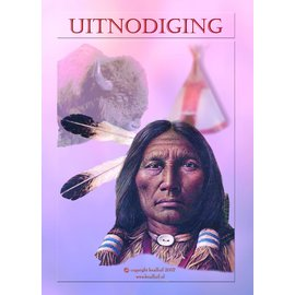 Uitnodigingen Indianenfeestje (8st)