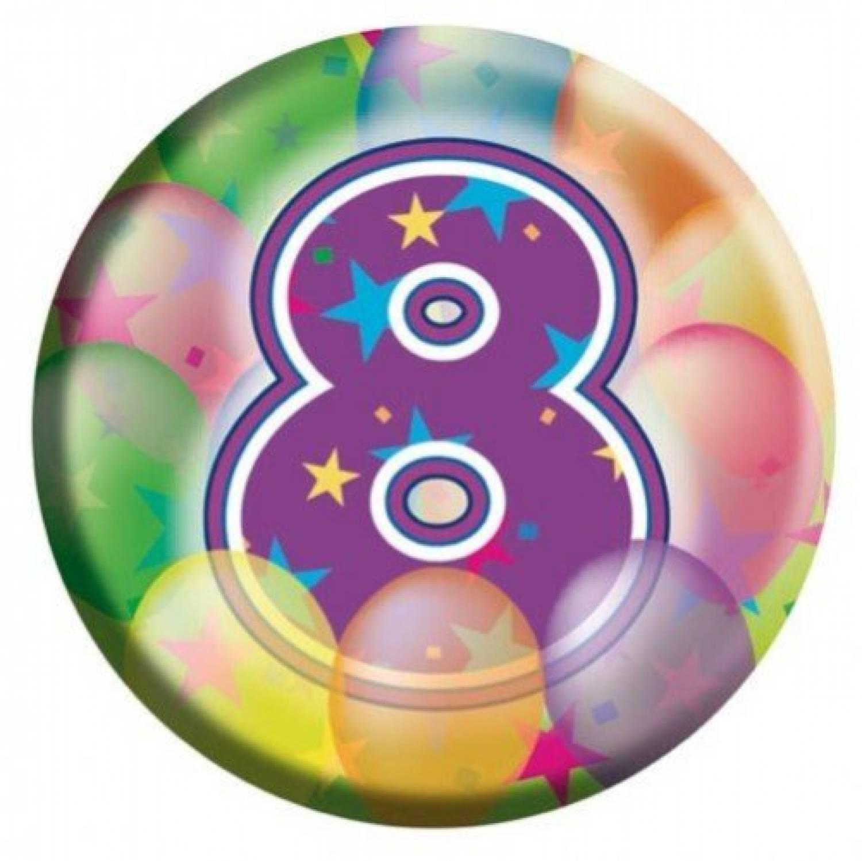 8 jaar verjaardag Button 8 jaar   Knalfuif Kinderfeestjes 8 jaar verjaardag