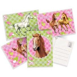 Uitnodigingen Paarden (6st)