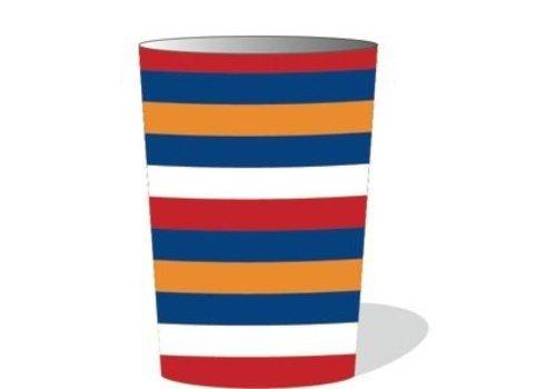 XL Bekers Rood Wit Blauw Oranje (6st)