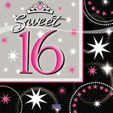 Servetten Sweet Sixteen (16st)