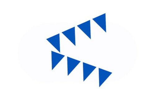 mini vlaggenlijn blauw (3mtr)