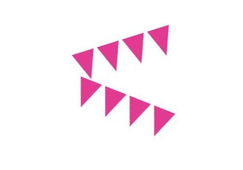 mini vlaggenlijn roze (3 mtr)