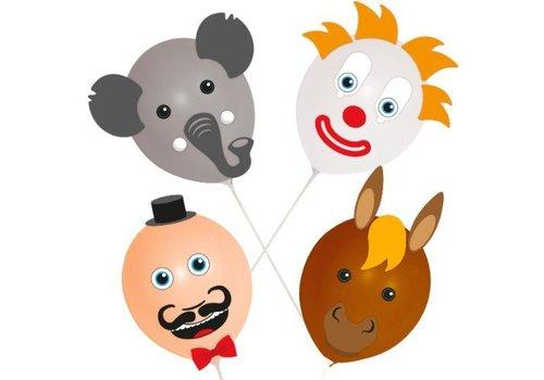 Ballon versierset (4dlg)