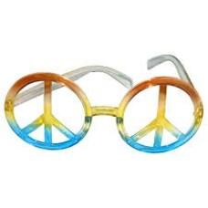 Bril met peace teken in regenboogkleuren