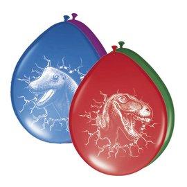 Dino ballonnen (6st)