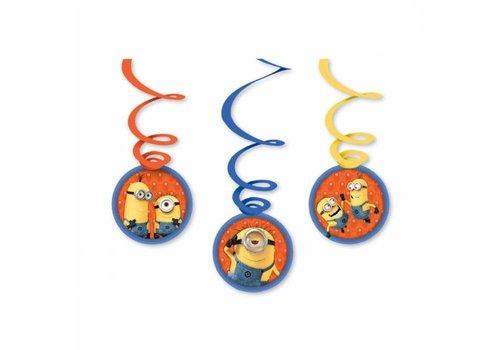 Minions swirl hangdecoratie (6st)