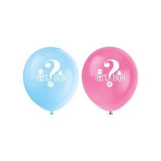 """Ballonnen babyshower """"girl or boy"""" 8st"""