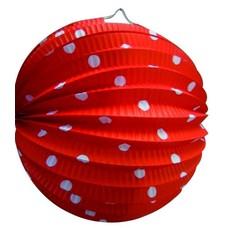 Bollampion Rood met witte stippen