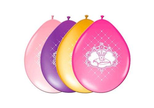 Prinsessen ballonnen (6st)