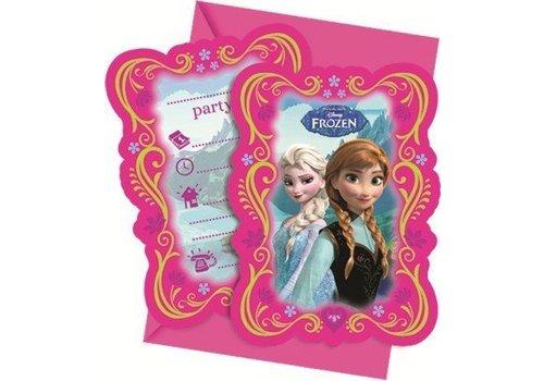 Uitnodigingen Frozen 6st