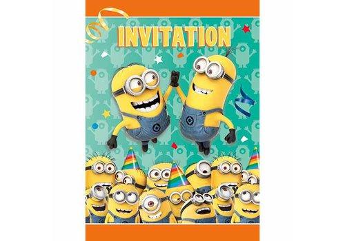 Minions Uitnodigingen (8st)