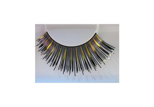 Nepwimpers (metallic) zwart/goud