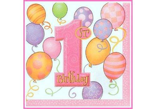 Servetten Pink Balloons