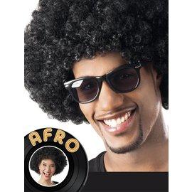 Afro pruik zwart