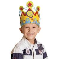 Verjaardagskroon stof jongen (1-5 jaar)