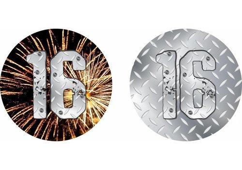 Onderzetters 16 jaar (10st)