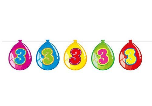 Vlaglijn 3 jaar (balloons)